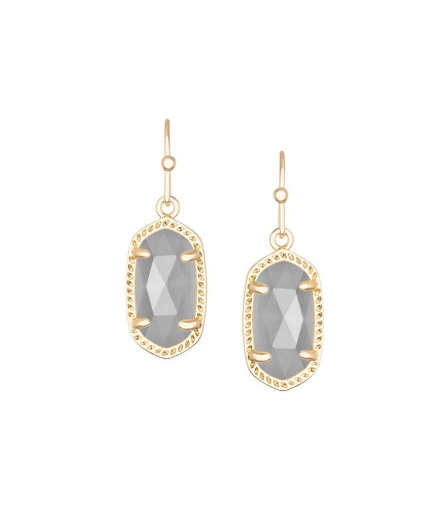 Kendra Scott Lee Gold Earrings In Slate