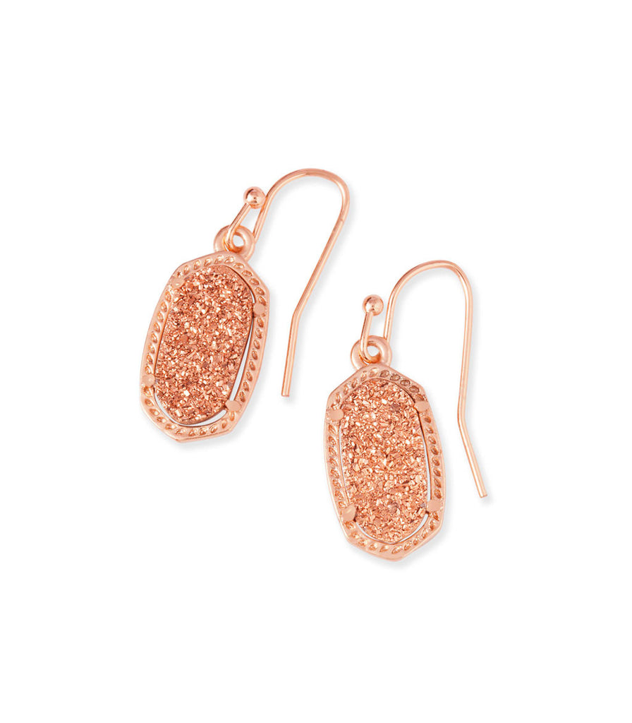 Kendra Scott Lee Earrings Rose Gold Drusy