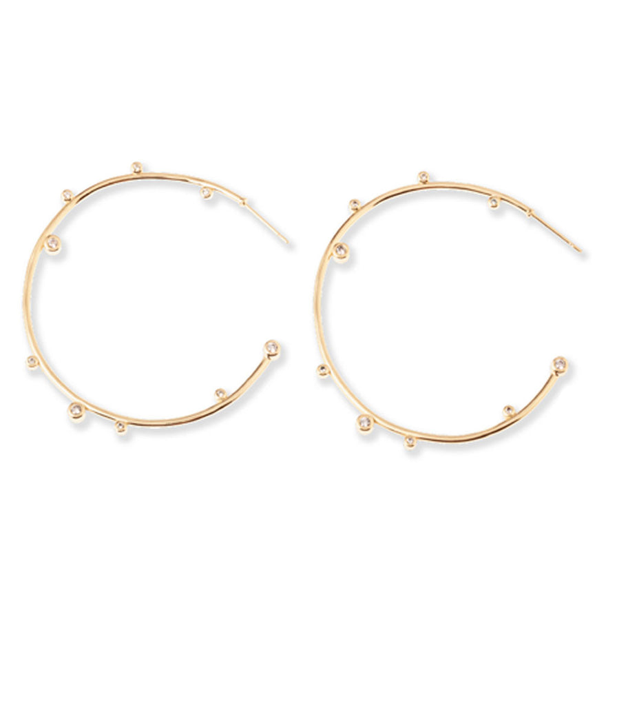 Kendra Scott Lety Hoop Earrings Gold