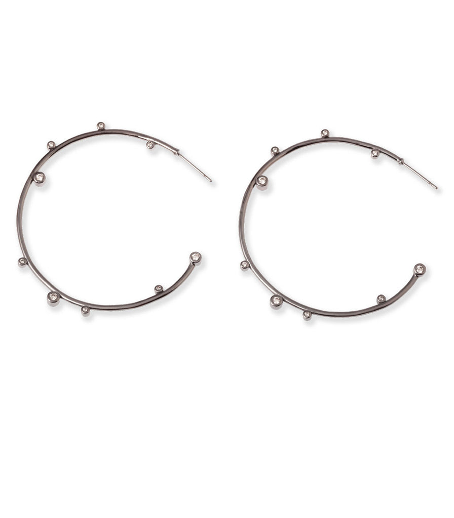 Kendra Scott Lety Hoop Earrings Hematite