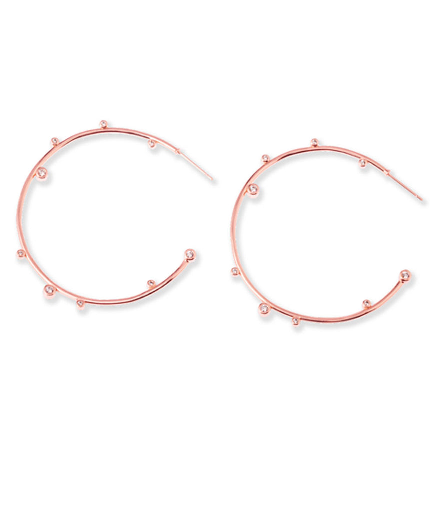 Kendra Scott Lety Hoop Earrings Rose Gold
