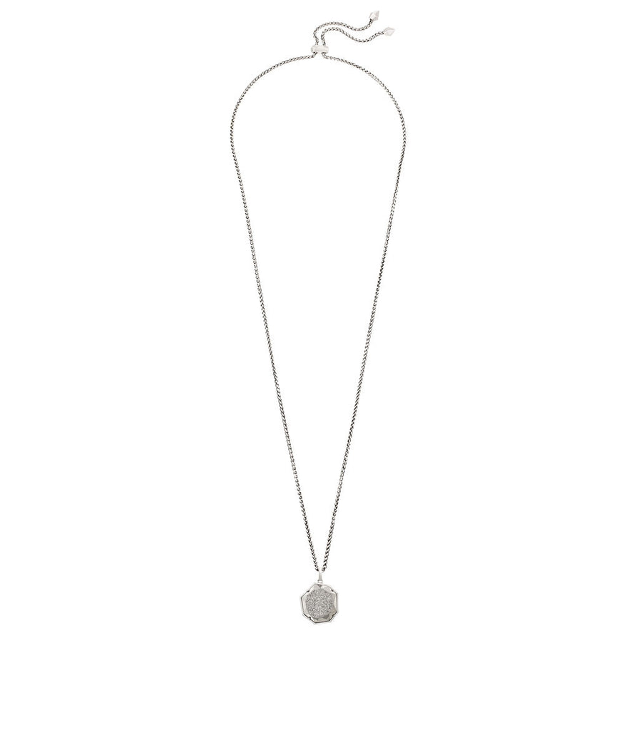 Kendra Scott Lizzie Necklace In Platinum Window Drusy