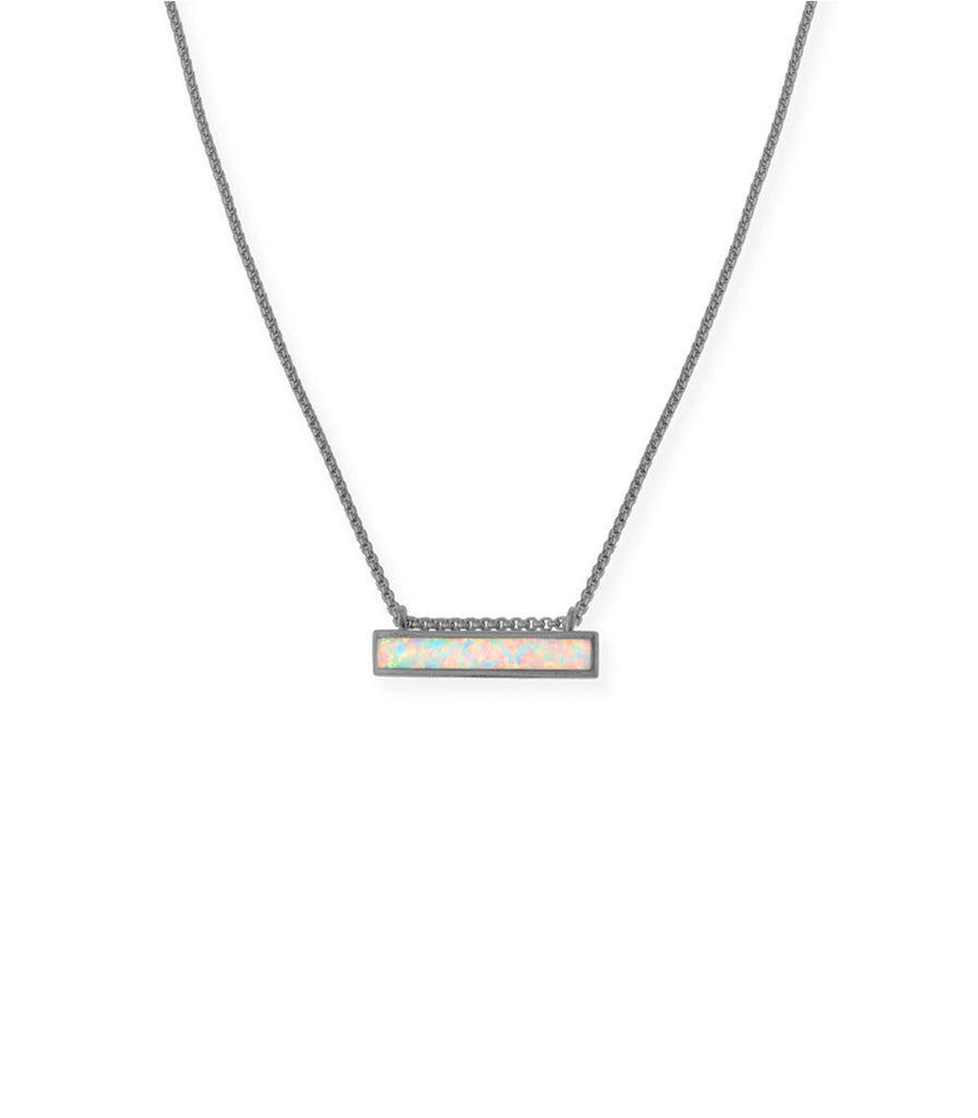 Kendra Scott Mackenzie Pendant Necklace In Hematite
