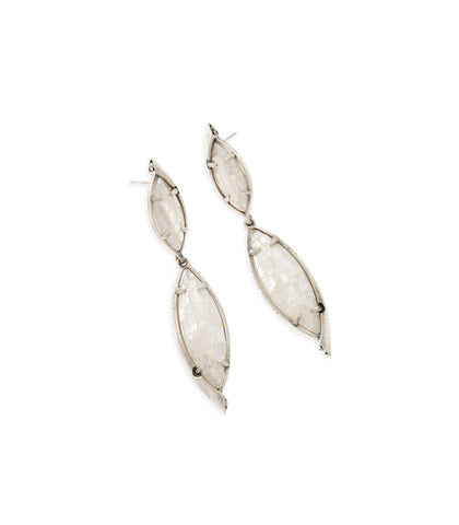 Kendra Scott Maisey Statement Earrings In Crackle Ivory Pearl