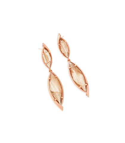 Kendra Scott Maisey Statement Earrings In Gold Dusted Glass