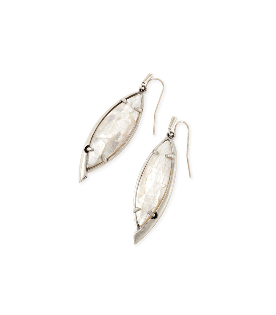 Kendra Scott Maxwell Drop Earrings In Crackle Ivory Pearl