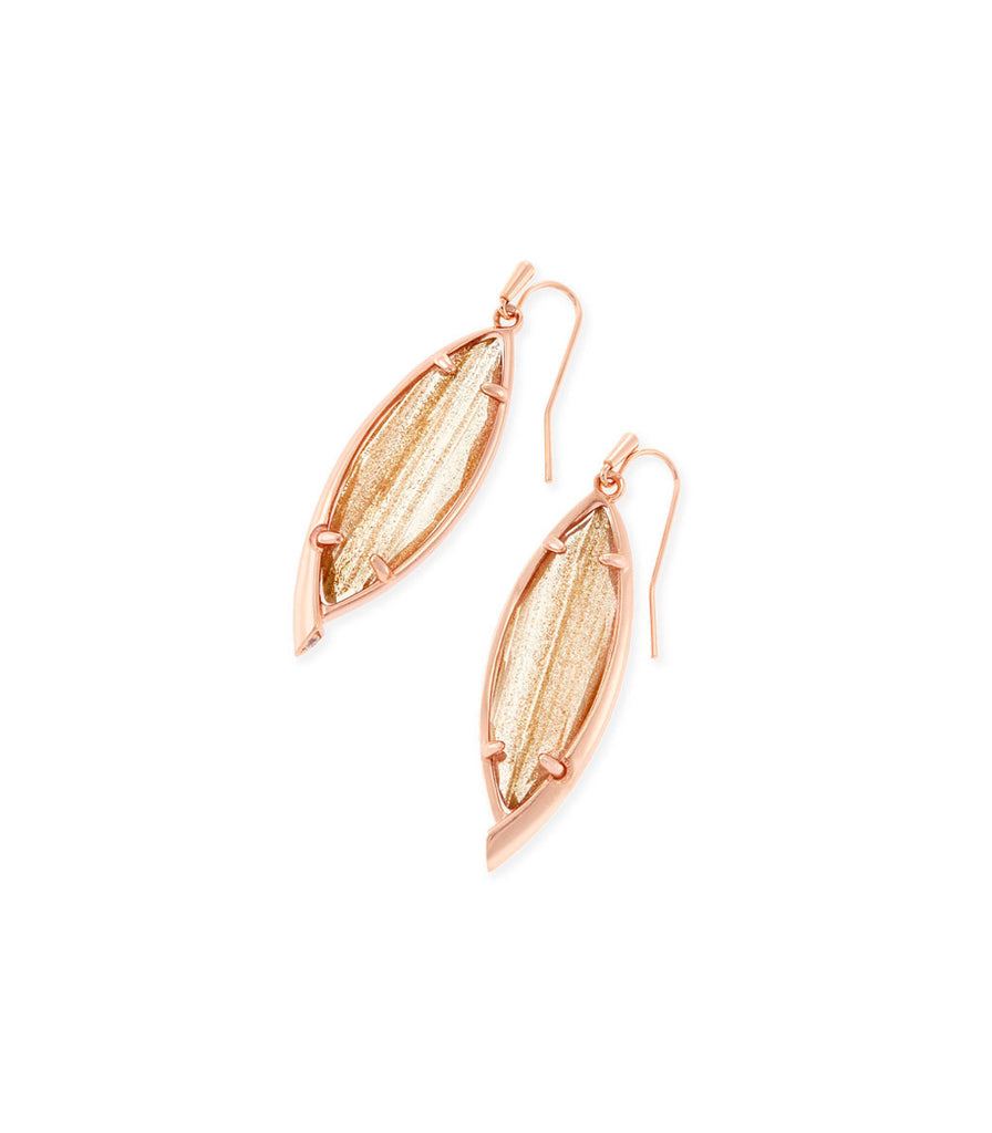 Kendra Scott Maxwell Drop Earrings In Gold Dusted Glass