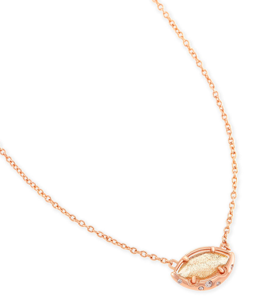 Kendra Scott Mikka Pendant Necklace In Gold Dusted Glass