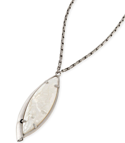 Kendra Scott Milla Long Necklace In Crackle Ivory Pearl