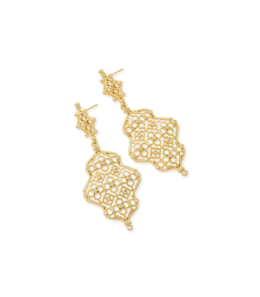 Kendra Scott Renee Statement Earrings In Gold