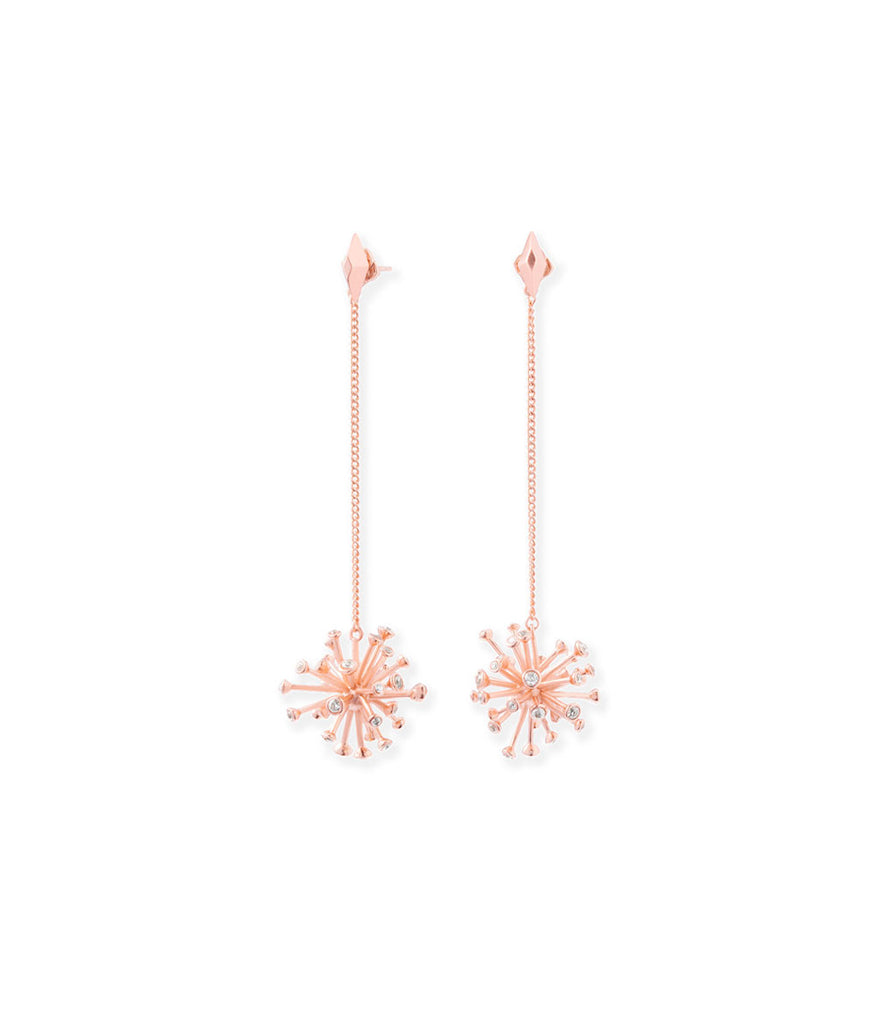Kendra Scott Tricia Shoulder Duster Ear Jackets Rose Gold