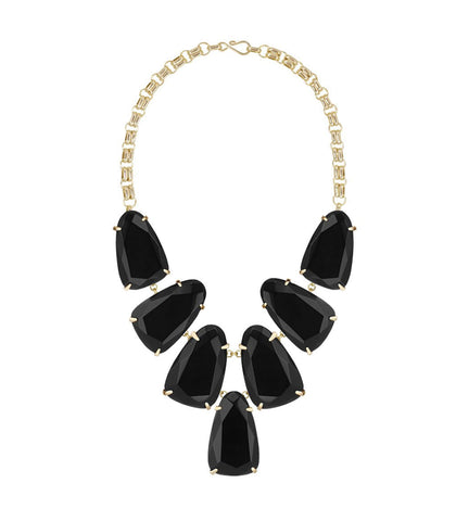 Kendra Scott Harlow Gold Necklace - Black Opaque Glass
