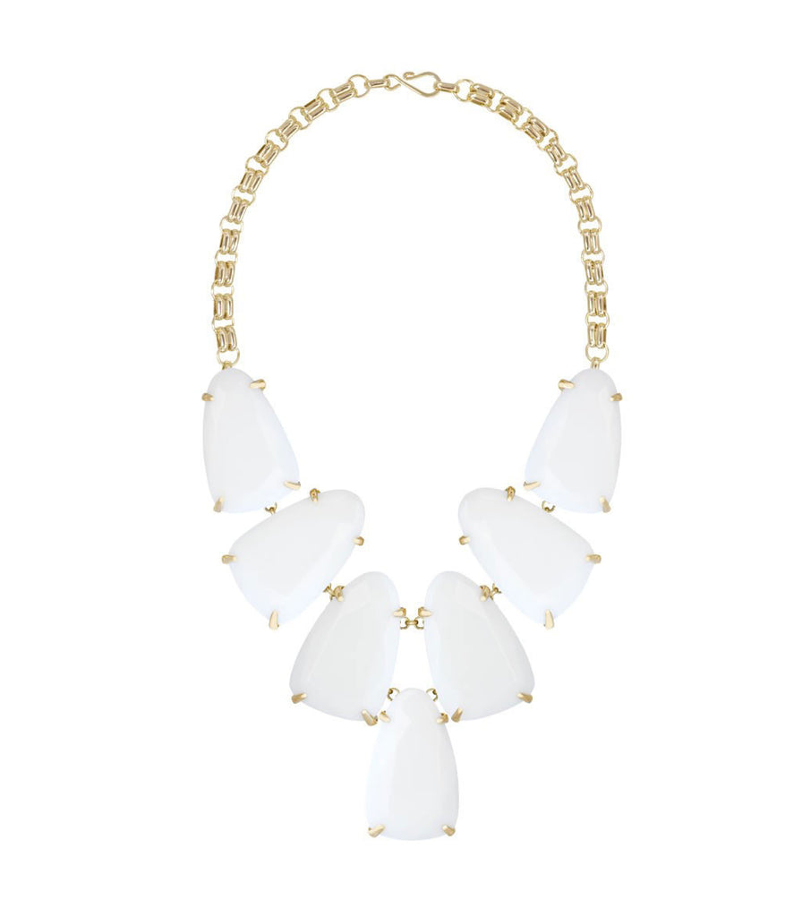 Kendra Scott Harlow Gold Necklace - White Opaque Glass