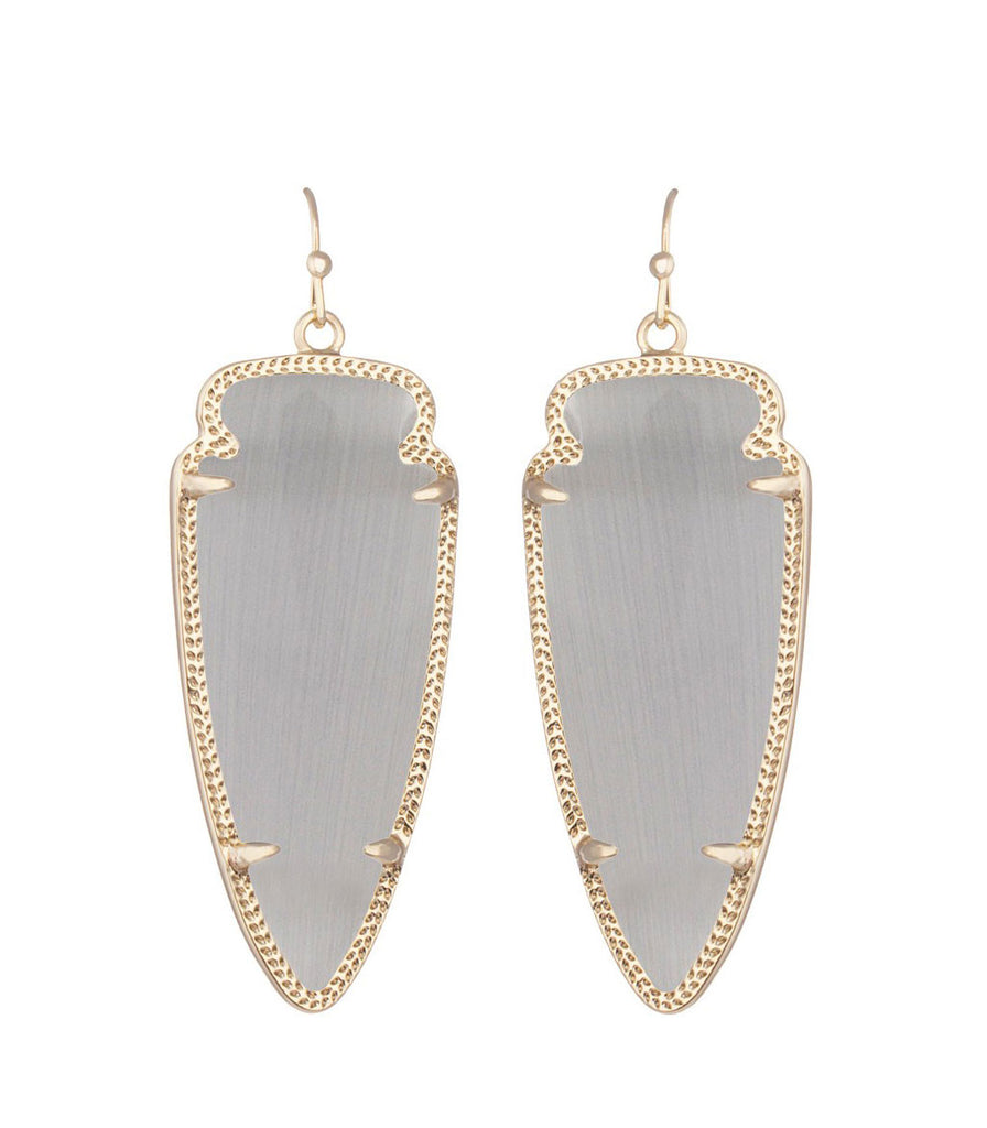 Kendra Scott Skylar Slate Catseye Earrings 14K Gold Plated