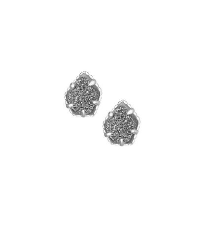 Kendra Scott Tessa Stud Earrings in Platinum Drusy in Silver