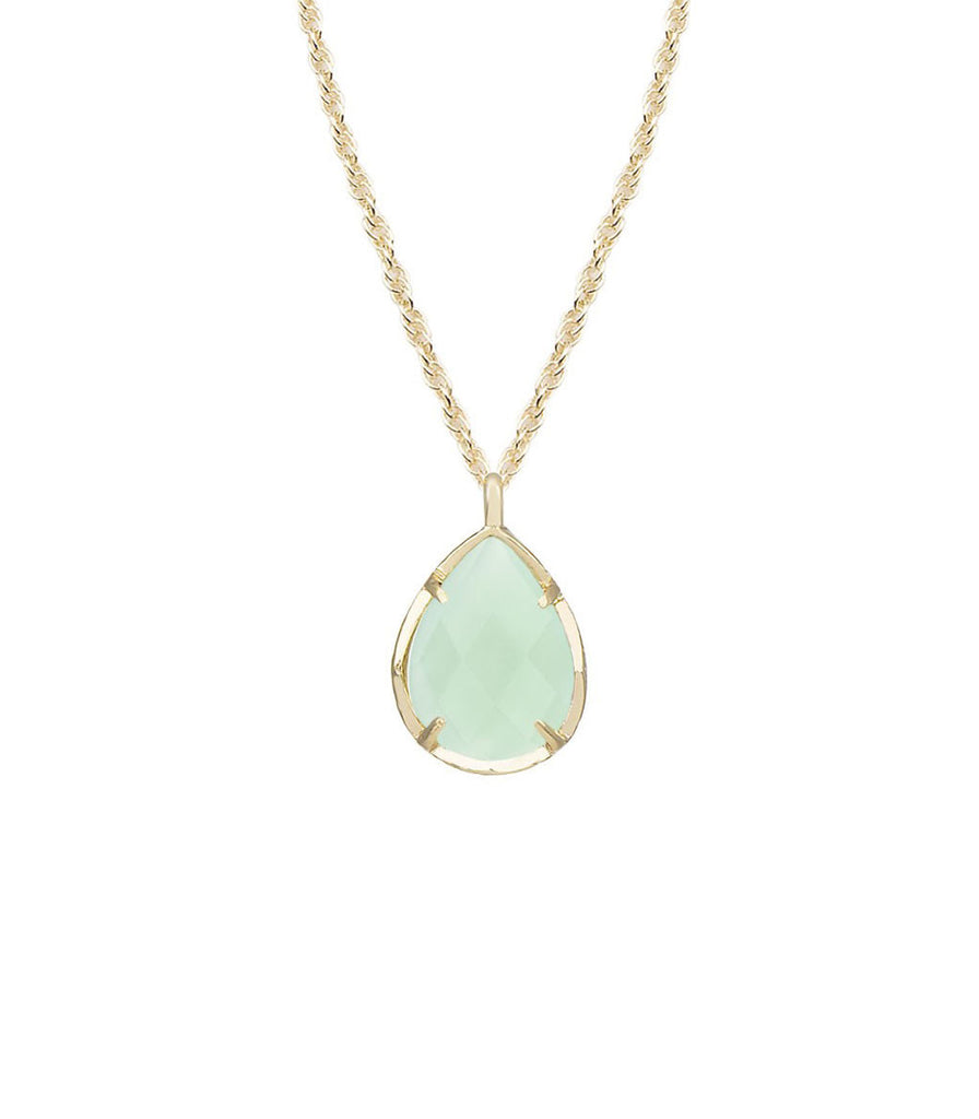 Kendra Scott Kiri Necklace In Chalcedony in 14K Gold Plated