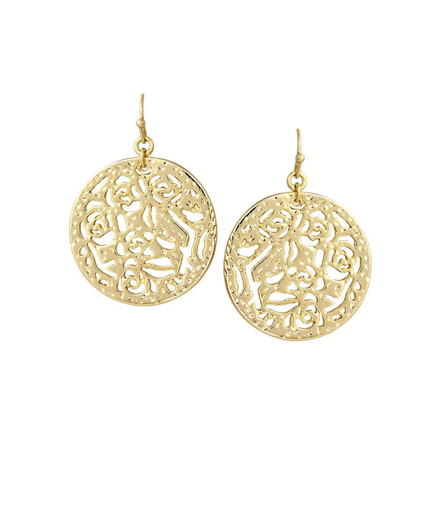 Kendra Scott Madina Round Earrings 14K Gold Plated