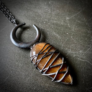 DOOM WITCH CRESCENT MOON SUNSTONE #2