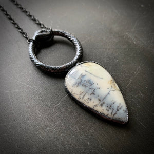 Load image into Gallery viewer, Ouroboros Dendrite Opal Talisman #2