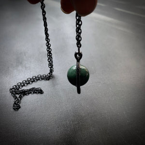 AVENTURINE CRYSTAL BALL NECKLACE