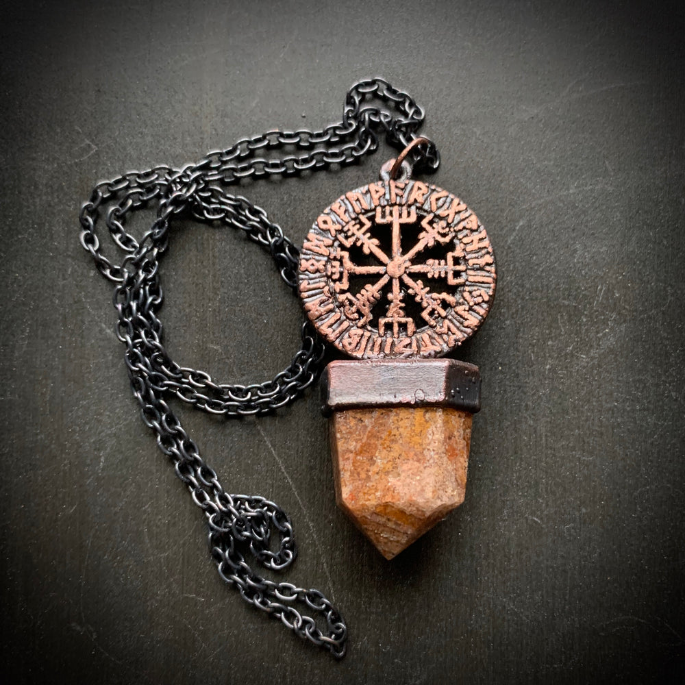 Load image into Gallery viewer, Vegvisir Talisman | 'Wayfinder' | Magical stave