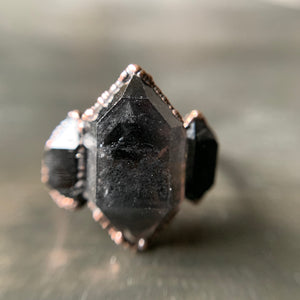 PHANTOM QUARTZ RING, SIZE 9.75