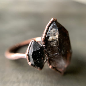 PHANTOM QUARTZ RING, SIZE 9.5