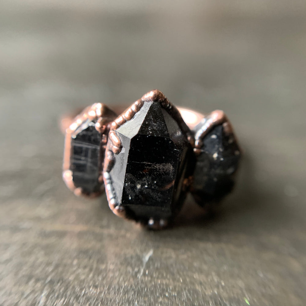 Load image into Gallery viewer, PHANTOM QUARTZ RING, SIZE 6.75