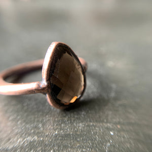 Load image into Gallery viewer, SMOKY QUARTZ RING, SIZE 5.5