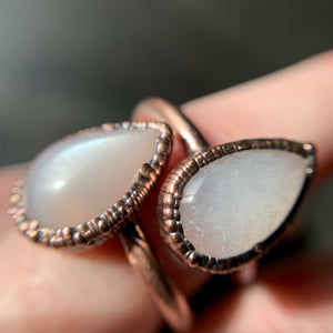 MOONSTONE RING, VARIOUS SIZES