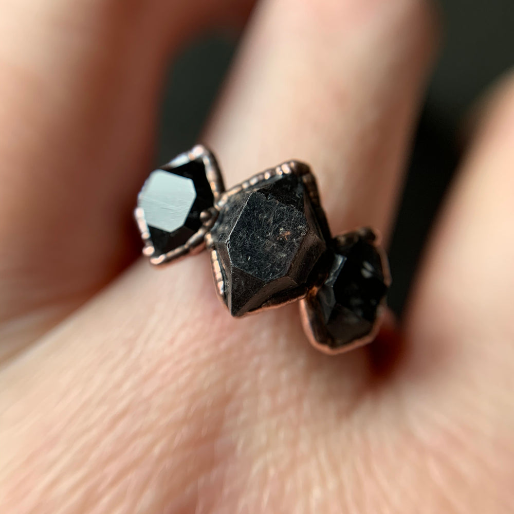 Load image into Gallery viewer, HERKIMER DIAMOND RING, SIZE 8.75