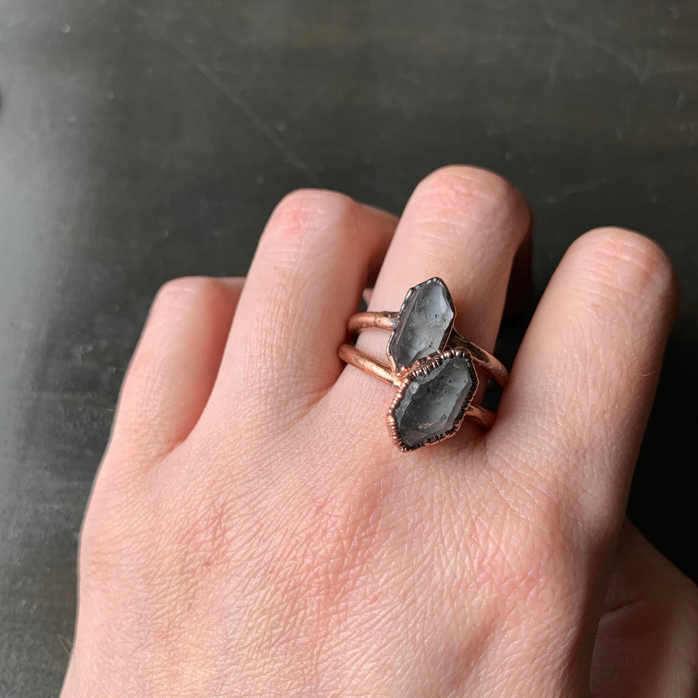 HERKIMER DIAMOND RING, VARIOUS SIZES