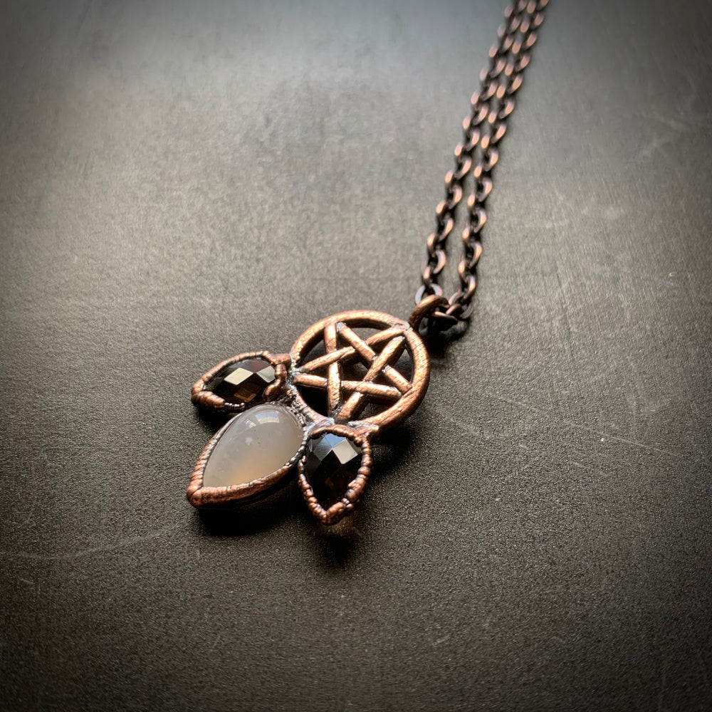 PENTAGRAM + SMOKY QUARTZ + MOONSTONE