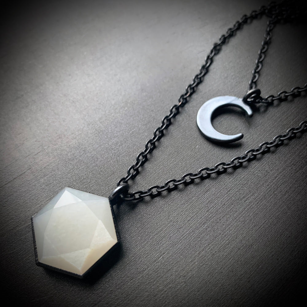 CRESCENT MOON + MOONSTONE