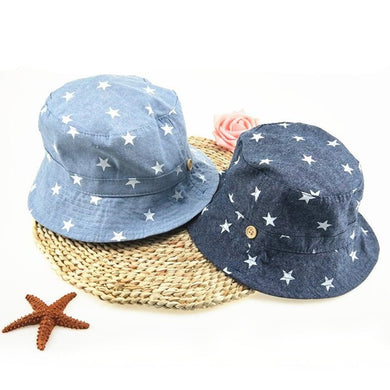 Denim Stars Double Sided Sun Hat
