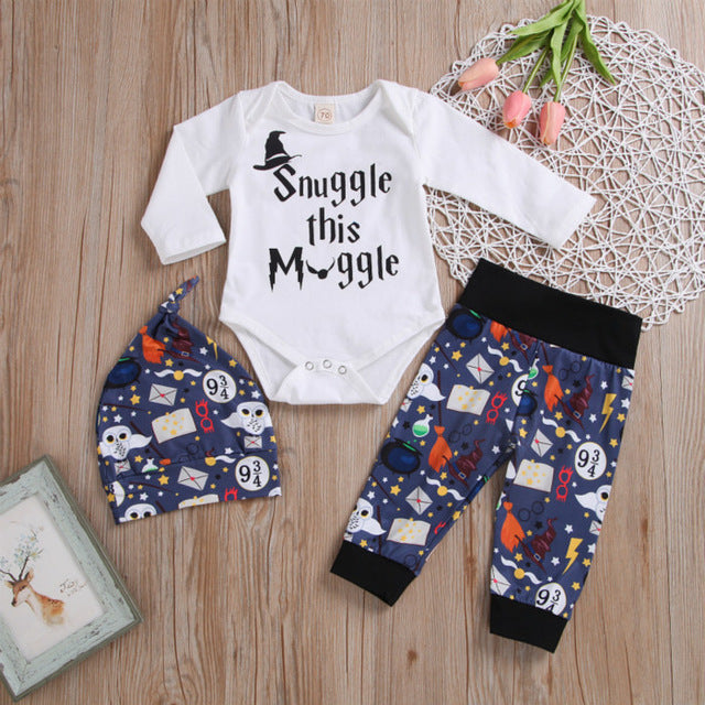 Snuggle this Muggle Outfit and Cap
