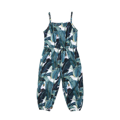 Dark Palms Sleeveless Romper