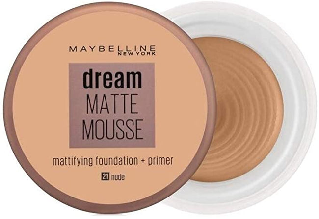 Maybelline Dream Matte Mousse Mattifying Foundation + Primer 21 Nude