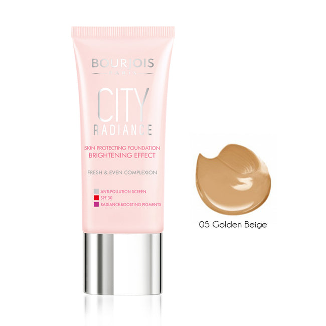 Bourjois City Radiance Skin Protecting Foundation 05 Golden Beige