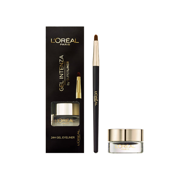 L'Oreal Gel Intenza by Superliner 24H Gel Eyeliner 01 Pure Black
