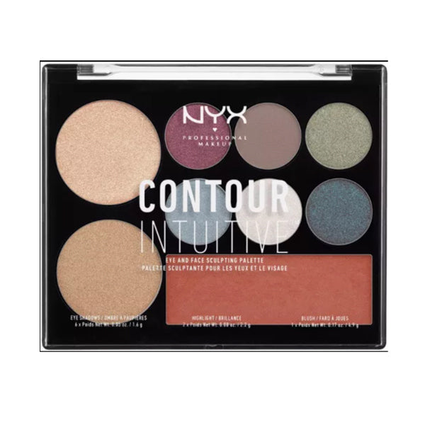 NYX Contour Intuitive Eye-Face Sculpting Palette Plum Metals 03