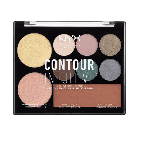 NYX Contour Intuitive Eye-Face Sculpting Palette Smoke & Pearls 05