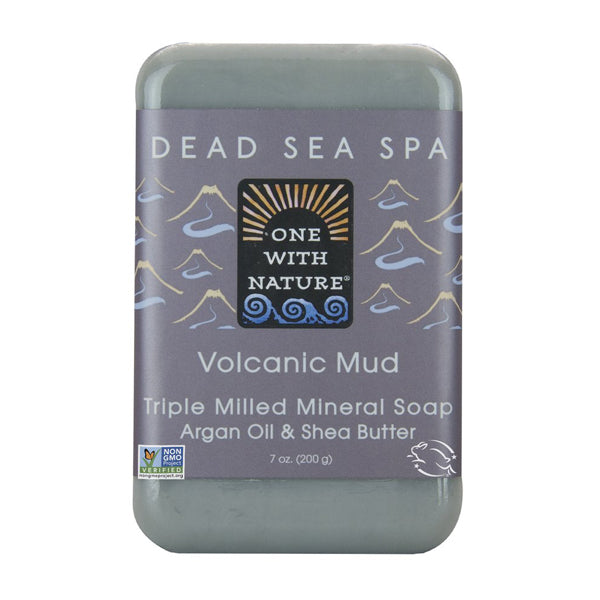 One with Nature Volcanic Mud Bar Soap 200g