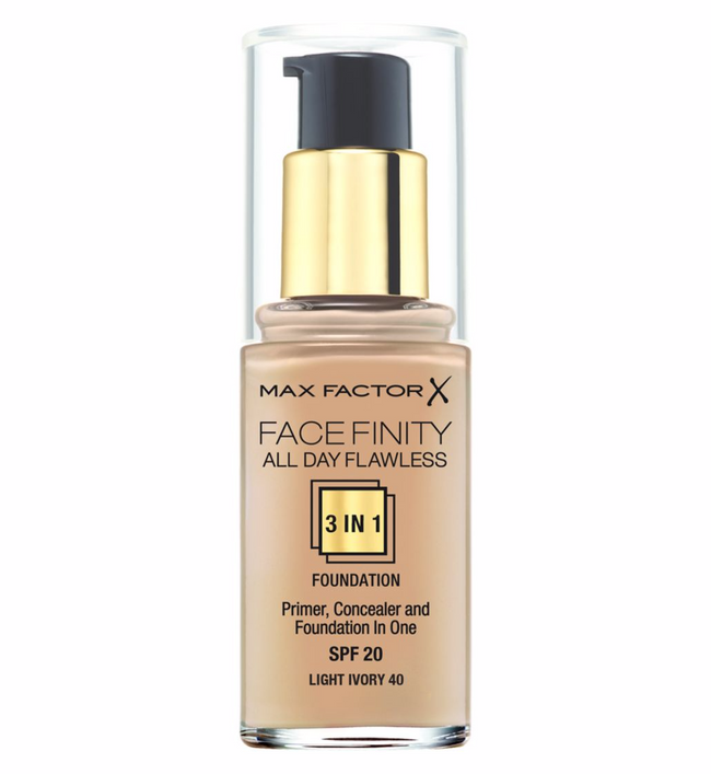 Max Factor Face Finity All Day Flawless 3 in 1 Foundation SPF20 Light Ivory 40