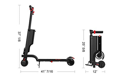 Volotta Rave Foldable Compact Electric Scooter. Light Weight with Built-in Bluetooth Speaker and USB Port to Charge On The Go