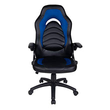 Office Chair Leather Desk High Back Ergonomic Adjustable Racing Chair Task Swivel Executive Computer Chair(Black)