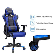 Camande Gaming Chair Racing Style High-Back PU Leather Office Computer Desk Chair Executive Ergonomic Style Swivel Chair Headres