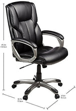 High-Back Executive Swivel Office Computer Desk Chair - Black with Pewter Finish
