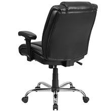 Flash Furniture HERCULES Series Big & Tall 400 lb. Rated Black Leather Swivel Task Chair with Adjustable Arms