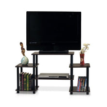 Turn-N-Tube No Tools Entertainment TV Stands, Black/Grey